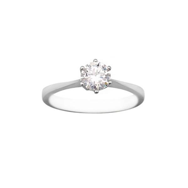 Solitario en oro blanco con diamante