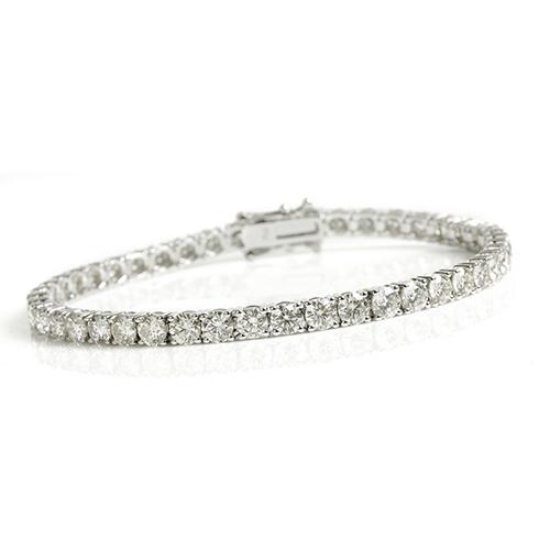 79b61939f0f2 Pulsera Riviere en Oro Blanco y Diamantes de 1